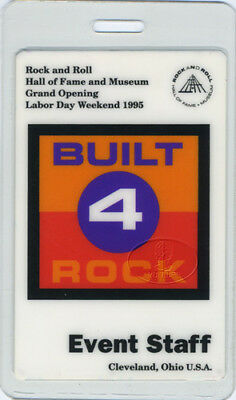 Led Zeppelin Hall Of Fame 1995 Laminated Backstage Pass Opening Day! Frank Zappa
