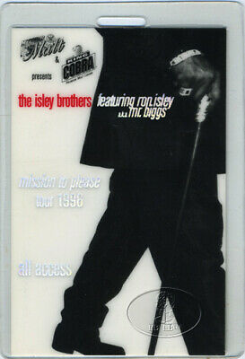 Isley Brothers 1996 Laminated Backstage Pass Mr. Biggs