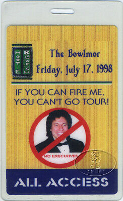 Hootie & Blowfish 1998 Bowlmor Laminated Backstage Pass
