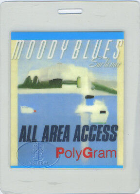 Moody Blues 1988 Sur La Mer Laminated Backstage Pass Aa