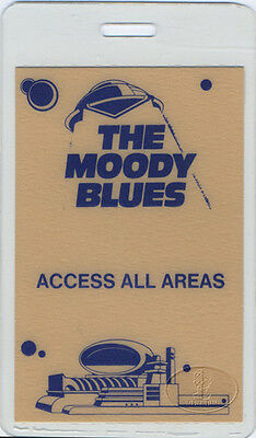 Moody Blues 1983 Laminated Backstage Pass All Access