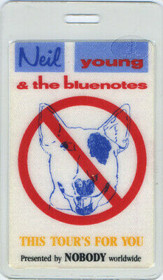 Neil Young & Bluenotes 1988 Laminated Backstage Pass