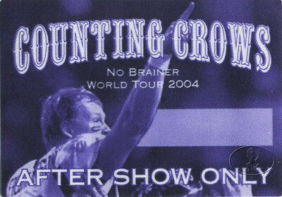 COUNTING CROWS 2004 NO BRAINER Backstage Pass ASO purp