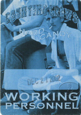 COUNTING CROWS 2002 HARD CANDY Backstage Pass blue