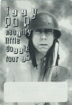 IGGY POP 1996 NAUGHTY LITTLE DOGGIE TOUR Backstage Pass