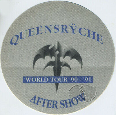QUEENSRYCHE 1990-91 WORLD TOUR BACKSTAGE PASS ASO blue