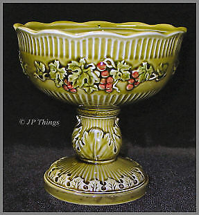 Lefton No 4332 Green Compote Shaped Planter 1967 - 1968