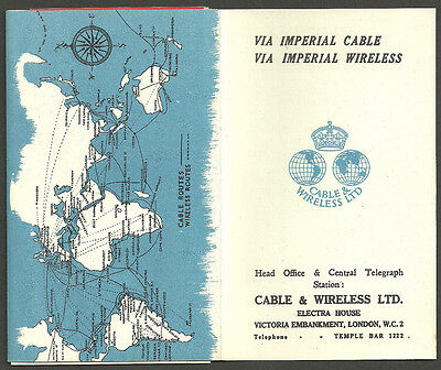 Via Imperial Cable/wireless Booklet 3 Telegrams Attd