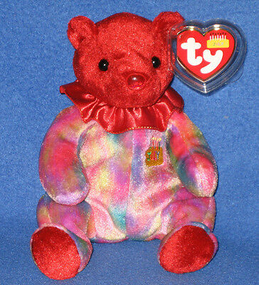 TY JULY the BEAR BEANIE BABY - MINT with MINT TAGS