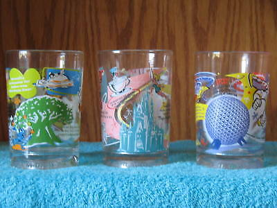 Disney World 100 Year Collector Glasses ~ Set of 3