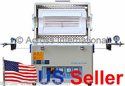 1200°C 60OD Lab Horizontal Vacuum Tube Furnace Heater w/ Sealing Kit