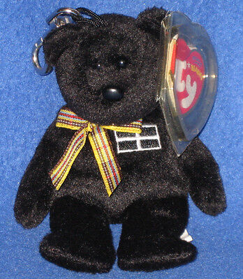 TY KERNOW the BEAR KEY CLIP BEANIE BABY - UK EXCLUSIVE - MINT with MINT TAG