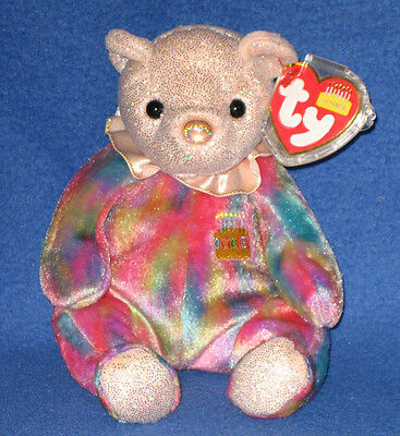 TY OCTOBER the BEAR BEANIE BABY - MINT with MINT TAGS