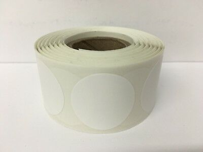 """1"""" Circle WHITE Color Coded Coding Inventory Warehouse Dots Labels 1000/Roll"""