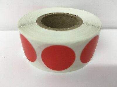 """1"""" Circle RED Color Coded Coding Inventory Warehouse Dots Labels 1000/Roll"""