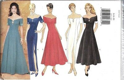 4301 UNCUT Vintage Butterick Sewing Pattern Party Formal Lined Dress OOP NEW FF