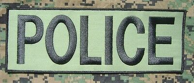 Police Swat Od Green Subdued Uniform Embroidered Velcro Military Army Patch 4X11