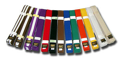 Shogun karate/judo belts - plain or shotokan belts from sizes 240cm to 320cm