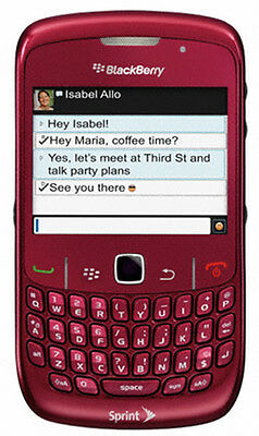 NEW Blackberry 8530 Curve RED Cell PDA Phone SPRINT PCS