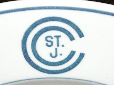 OLD St. Joseph St. Johns Country Club Restaurant plate