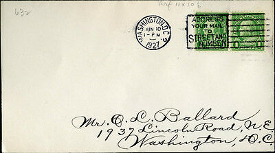 #632 Pair On U.s. First Day Cover Uncachet Bm9308