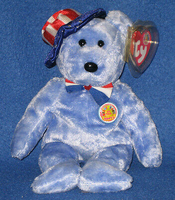 TY FOUNDERS the BEAR BEANIE BABY - MINT RETIRED BBOM