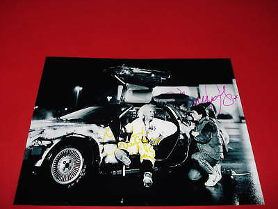 Back To The Future Cast Signed Photo Pp J Fox Lloyd Dr