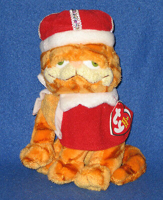 TY HIS MAJESTY GARFIELD BEANIE BABY - GOOD TO BE KING - MINT with MINT TAGS