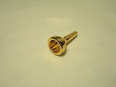Gold Baritone or Trombone Mouthpiece, 6 1/2AL, for Bach, Large Shank