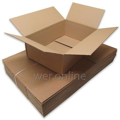 "5 x Postal Packing Mail Gift Cardboard Boxes 18x12x6"" SW"