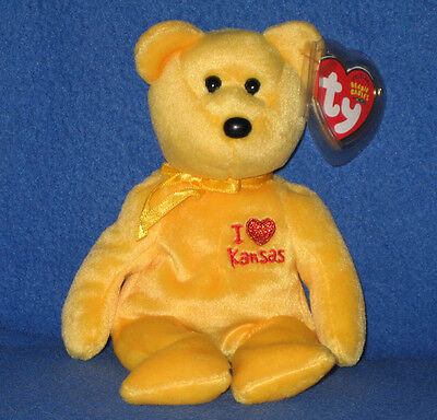 3adeecad6cd TY I LOVE KANSAS BEANIE BABY - STATE EXCLUSIVE - MINT with MINT TAGS ...