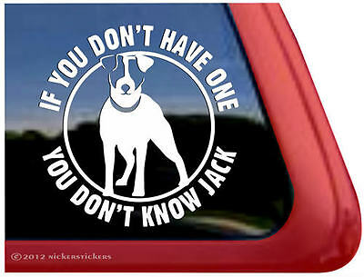 YOU DON'T KNOW JACK Vinyl Jack Russell Terrier Dog Window Decal Sticker