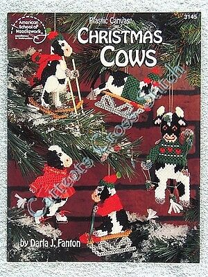 Christmas Cows In Plastic Canvas Chart Moov-ing Designs