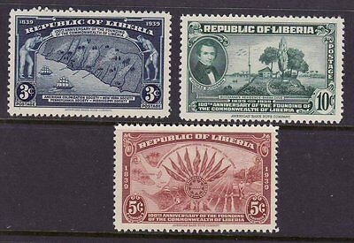 Liberia # 277-79 MNH Complete Set Map Ship
