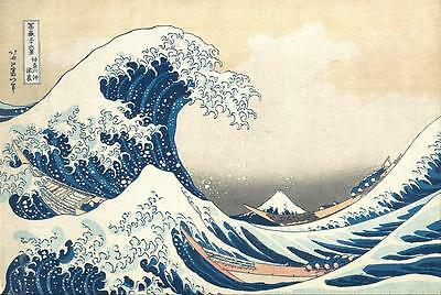 The Great Wave off Kanagawa & FREE Print by Katsushika Hokusai Poster Picture