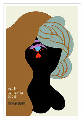 Movie Poster for Italian German French film I knew her well.Heart TEAR.decor art