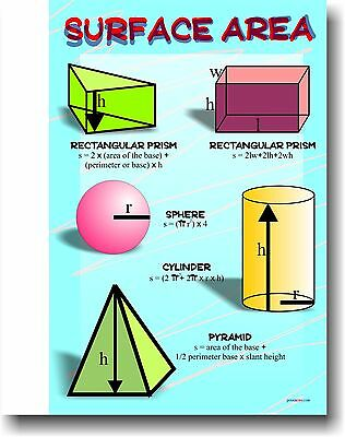 Surface Area - Educational Classroom Math Poster