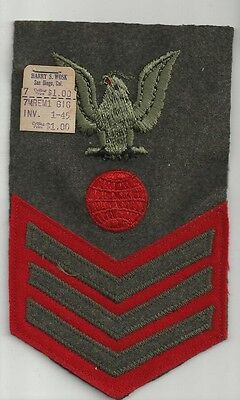 PO1  Electrician's Mate Navy Marine Corps WWII Patch