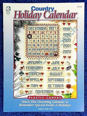Plastic Canvas Pattern Country Holiday Calendar Perpetual