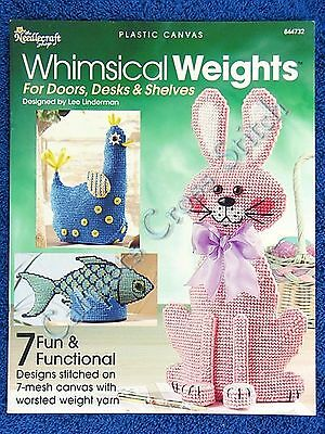 Plastic Canvas Pattern Whimsical Weight 3D Rabbit Lion Car Hen Cottage Fish