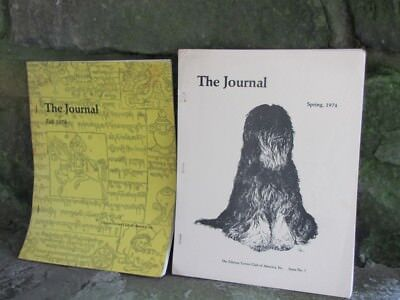Vintage Tibetan Terrier Club Of America Journal 1974 Issue 7 & 8 Jane Reif