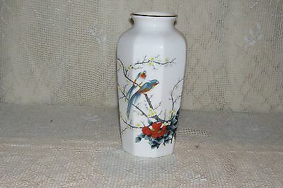 Jay Fine China Vase Floral Bird Pattern