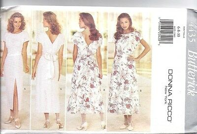 4494 Vintage Butterick SEWING Pattern DONNA RICCO NY MIsses Dress UNCUT OOP SEW