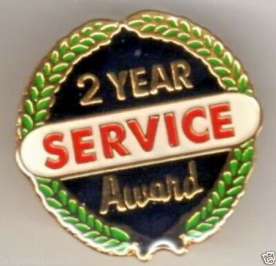 """2 Year Service Award"" Enamel Lapel Pins w/Laurel Leaves/Lot of 25/ALL NEW!"