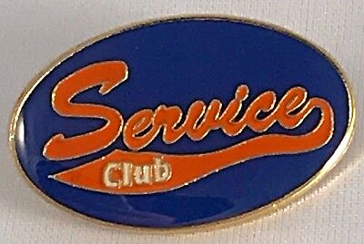 """Service Club"" Orange & Blue Enamel Lapel Pins/Lot of 25/ALL NEW!"