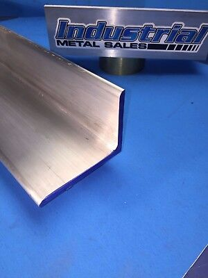 """6061 T651 Aluminum Angle 3"""" x 4"""" x 12"""" Long x1/4"""" Thick  2 Pieces"""
