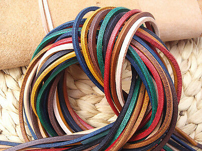 1 PAIR NATURAL LEATHER THONGS / LACES 3x3mm 140cm long Leatherworld