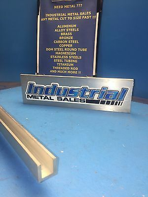 "3/4"" x 3/4"" x 48""-Long x 1/8"" Thick 6063 T52 Aluminum Channel"