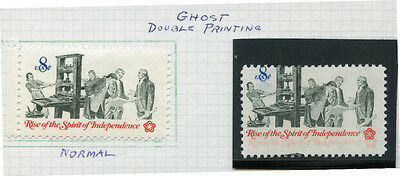 "#1476 Var. ""spirit Of Independence"" Ghost Double Printing Error Bn2352"