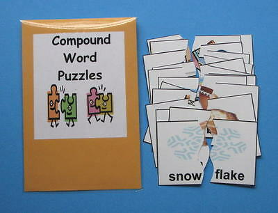 Teacher Made Literacy Center Vocabulary Resource Game Compound Words